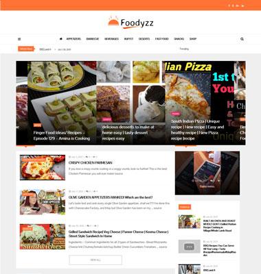 Food website designing company